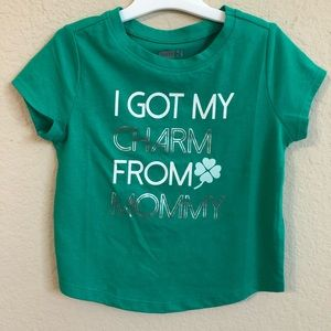 St. Patrick's Day Shirt Charm From Mommy Crazy 8